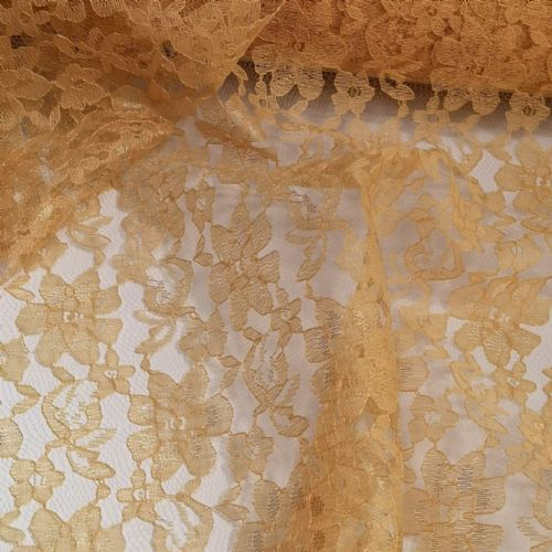 Gold Lace Fabric 54""